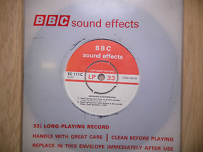 "BBC Sound Effects 7"" Record - Grinding & Sharpening, Heating & Quenching"