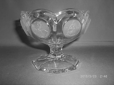 Fostoria Clear Coin Glass Compote Or Candy Dish Avon Anniversary 1977