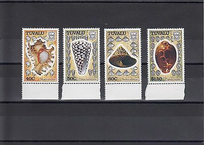 Timbre Stamp 4  Tuvalu Y&t#555-58  Coquillage Shell Neuf**/mnh-Mint 1991  ~A19