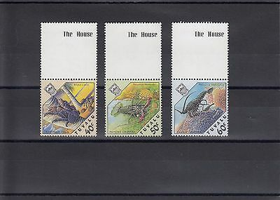 Timbre Stamp 3  Tuvalu Y&t#461-63  Crabe Crustace Neuf**/mnh-Mint 1987  ~A19