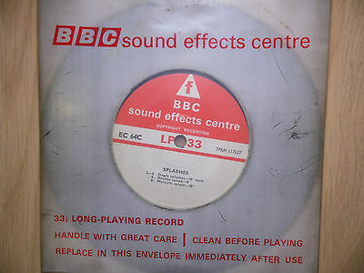 """BBC Sound Effects 7"""" Record - Swimming & Diving, Springboard & Splashes"""