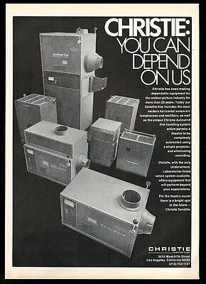 1973 Christie Xenolite movie theatre projector lamphouse rectifier photo ad