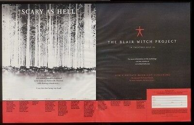 1999 The Blair Witch Project movie print ad