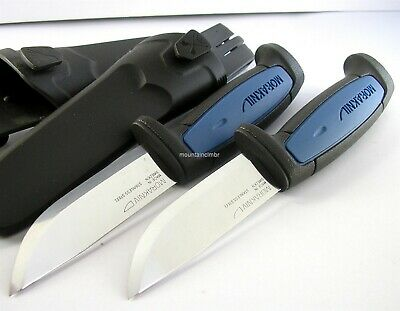 2 Pc Lot Mora Morakniv Pro S Stainless Steel Fixed Blade Knife Sweden 01506