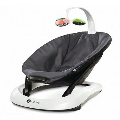 NEW 4moms bounceRoo Infant Bouncer grey classic VIBRATES