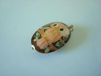 Double Sided Cloisonne Hoot Owl Pendant