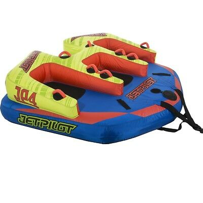Jet Pilot JP4 4 Person Towable Ski Tube Inflatable Biscuit Boat Ride