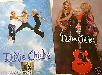 """DIXIE CHICKS """"WIDE OPEN SPACES"""" 2-SIDED U.S. PROMO ALBUM POSTER - Country Music"""