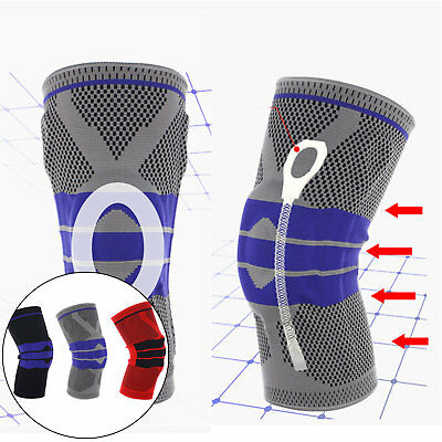1pc Sports knee Support Pad High Compression Silicone Padded Knee Sleeve Brace