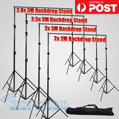 New Photo Studio Heavy Duty Backdrop Stand Screen Background Support Stand Kit