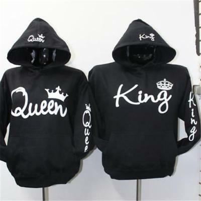 Couple Hoodie - King And Queen His and Hers - Couple Sweatshirts Pullover Jumper