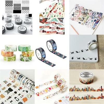 70Styles New Self Adhesive Washi Masking DIY Tape Sticker Craft Diary Decor