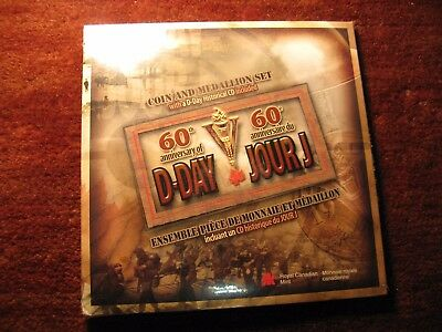 2004 Canada 60Th Anniversary D Day Coin & Medallion Set With Cd Mint Set
