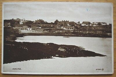 Moelfre, Anglesey. Sepia postcard by Valentine's, circa 1900s-20s