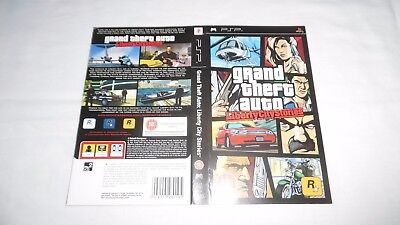 GTA : LIBERTY CITY STORIES : ORIGINAL COVER (ARTWORK/SLEEVE) ONLY , psp