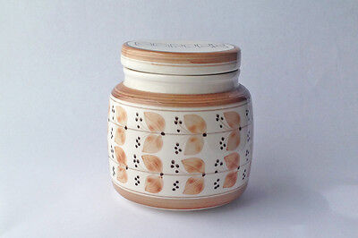Jersey Pottery Coffee Jar Hand Painted 1960s staorage jar