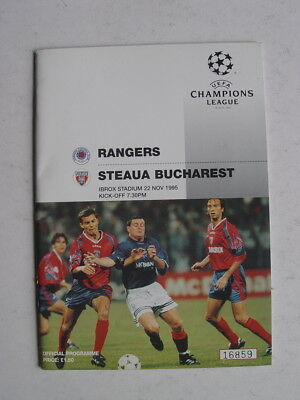 Rangers v Steaua Bucharest 1995/96 Champions League
