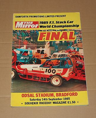 1985 Bradford Brisca F1 stock car World Championship programme, 14 September