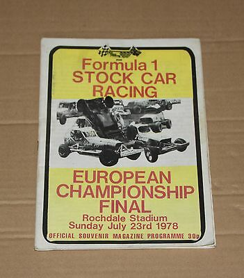 1978 Rochdale Brisca F1 European Final programme, 23 July