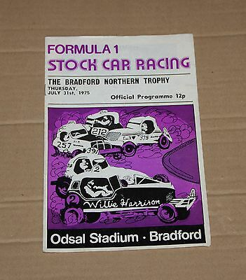 1975 Bradford Brisca F1 stock car programme, 31 July (Bradford Northern Trophy)