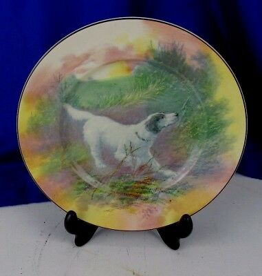 Antique Royal Doulton Hand Painted Plate D6313 Dog English Setter & ANTIQUE ROYAL Doulton Hand Painted Plate D6313 Dog English Setter ...