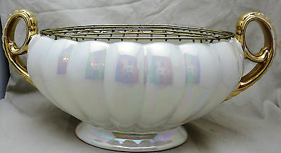"H J Wood Mid 20thC Lustre Flower Posy Vase 11.75"" Long"