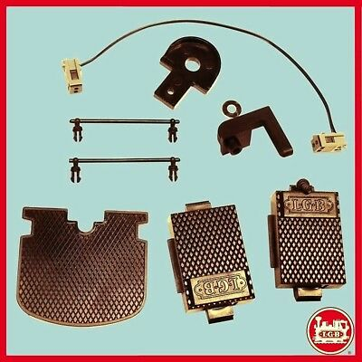 New Lgb Powered Tender Kit - Coupling Hook With Carrier Set - Sound Activation