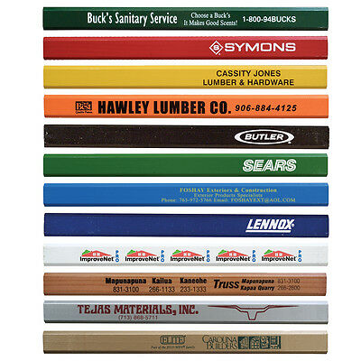 Enamel Carpenter Pencils Personalized Handout Convention Marketing Giveaway