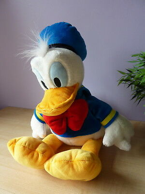 "Disney Store STAMPED Donald Duck  15"" Soft Plush roy"