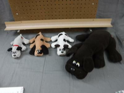 Pound Puppies Dogs Tonka Vintage 8 1/2 inch - 19 inch long lot of 4 plush 1985