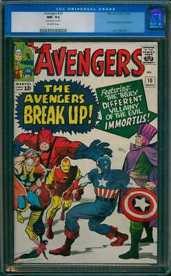 Avengers # 10  The Villainy of the Evil Immortus !  CGC 9.2 scarce book !