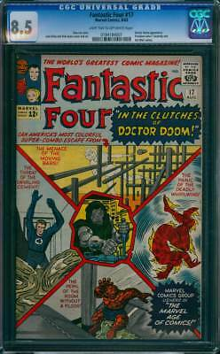Fantastic Four # 17  In the Clutches of Doctor Doom !  CGC 8.5 scarce book !
