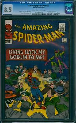Amazing Spider-Man # 27  Bring Back My Goblin To Me !  CGC 8.5 scarce book !