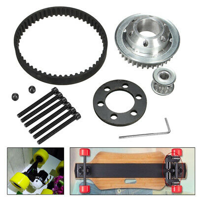 DIY Electric Skateboard Parts Pulley Drive Belt Kit For 83/90/97MM Wheel Tool