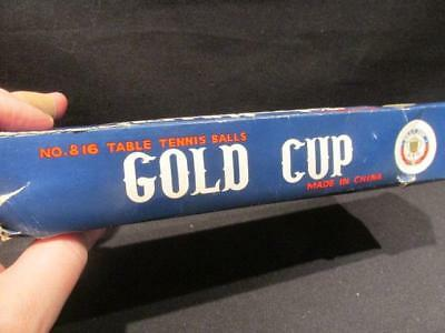 Gold Cup No 816 Table Tennis Balls Made in China Vintage 1/2 Dozen New in Box