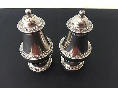 vintage silver plated salt & pepper pot made in england