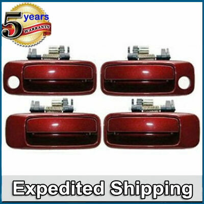 DH37 Front Outside Door Handle Set For 97-01 Toyota Camry 3N6 Burgundy B469 B470