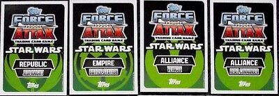 30+ Star Wars Force Attax Series 2 Movie Cards Trading Cards 2013
