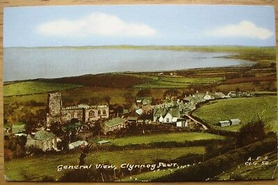 General View, Clynnog Fawr. 1960s postcard by Frith