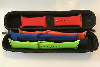 Apple Watch Band Series 1, 2 & 3 .... Storage Travel Case...Black