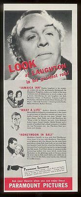 1939 Charles Laughton photo Paramount Pictures vintage print ad
