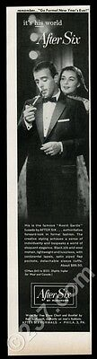 1957 After Six tuxedo formal wear fashion vintage print ad