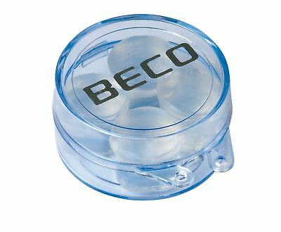 Beco Flex Ear Plugs Moldable Silicone Swimming Earplugs 2 Pairs with Case