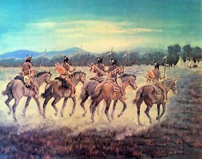 """Cecil Smith """"warriors Return"""" S&n Lithograph - List $350./ Make Obo Now $100."""