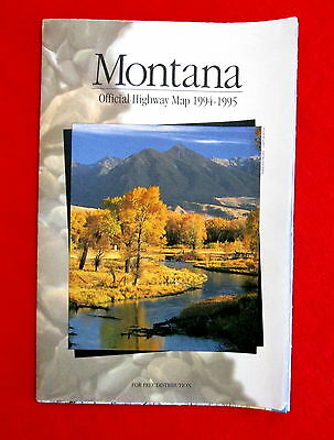 1994 Montana Official Highway Map lsc3