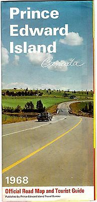 1968 Prince Edward Island Official Highway Map t4c