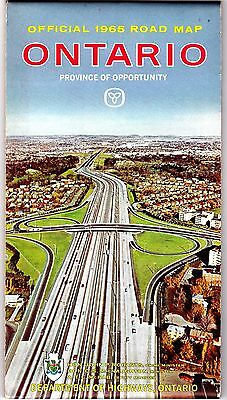 1965 Ontario Official Highway Map t4c