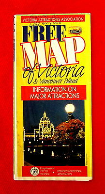 1993 Map of Victoria Tourist Attractions golc