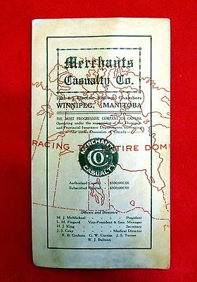 1914 Merchants Casualty Insurance Sales Brochure Winnipeg Manitoba gmc1