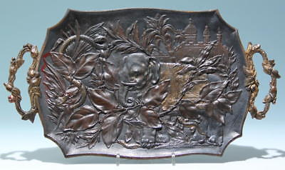 Cast Iron Tray with Colonial Elephant Motif - 2. H. 19th.            #met655